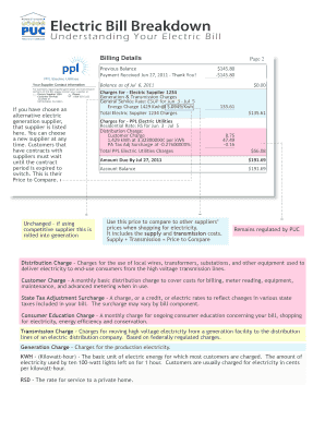 font used in utility bills - Printable Forms & Document