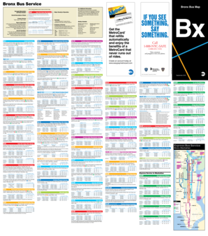Fillable Online Bronx Bus Map September 2015 Schedule