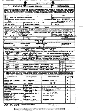 Dd Form 398 - Fill Online, Printable, Fillable, Blank | PDFfiller