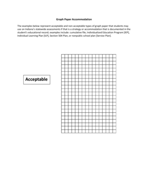 Math Acceptable Graph Paper for Accommodations - doe in