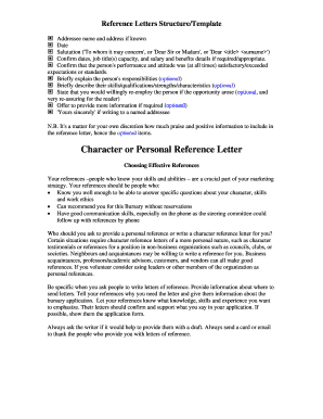 reference letter template pdf fill online printable fillable