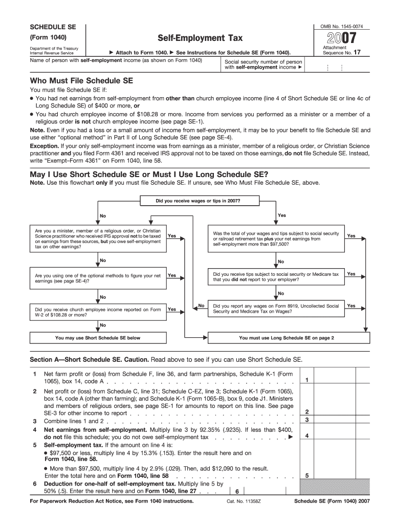 form 1065 attachment sequence  Schedule Se For 10 - Fill Online, Printable, Fillable ...