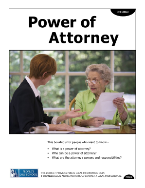 Power of attorney bc fillable form