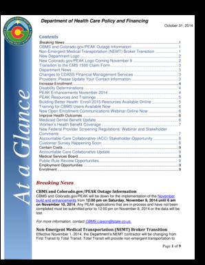 Blank October 2014 Calendar to Print