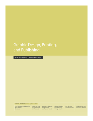 Graphic Design, Printing, and Publishing. Publication 37