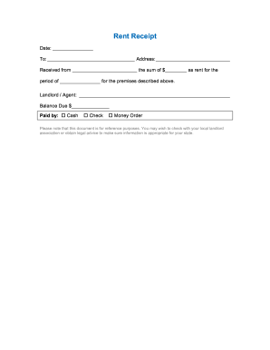 24 printable receipt for rent payment forms and templates fillable