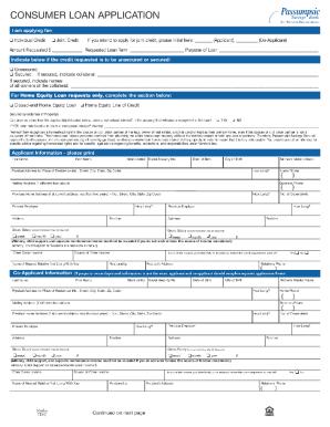 Fillable Consumer Loan Application