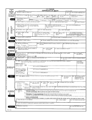fake death certificate form