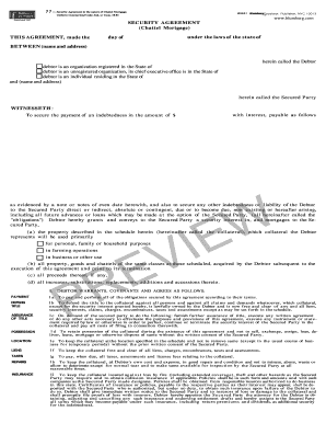 Security agreement forms and templates fillable printable security agreement pdf form platinumwayz