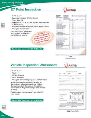 27 point vehicle inspection form pdf