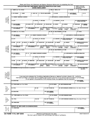 Dd Form 1172 - Fill Online, Printable, Fillable, Blank | PDFfiller