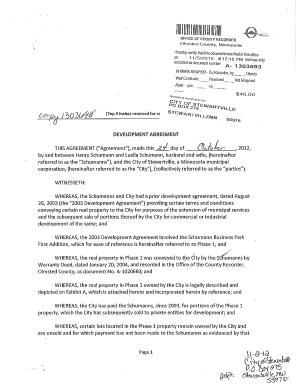 Development Agreement  Schumann