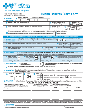 7 Health Care Claim Forms Free Downloadable Samples ...