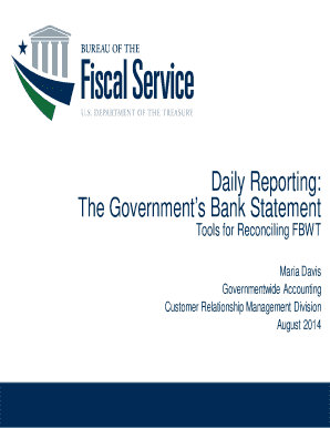 Daily Reporting: The Government\'s Bank Statement Tools for ...