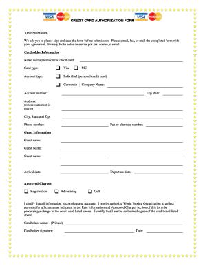 Online credit card form
