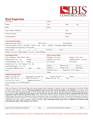 blank roofing contract fill online printable fillable blank