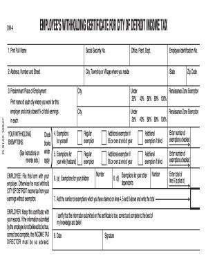 Dw 4 Detroit - Fill Online, Printable, Fillable, Blank | PDFfiller