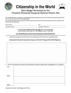 Fillable Online nps Citizenship In the World worksheet - National ...
