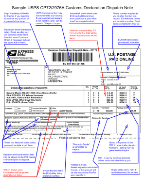 Usps customs form 2976