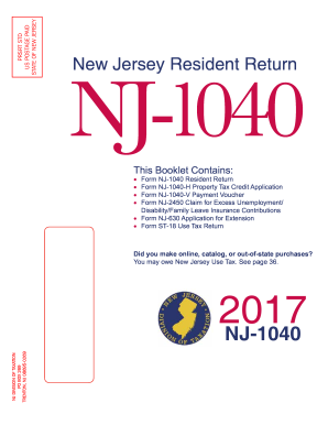 Nj State Tax Form 1040 Fill Online Printable Fillable Blank