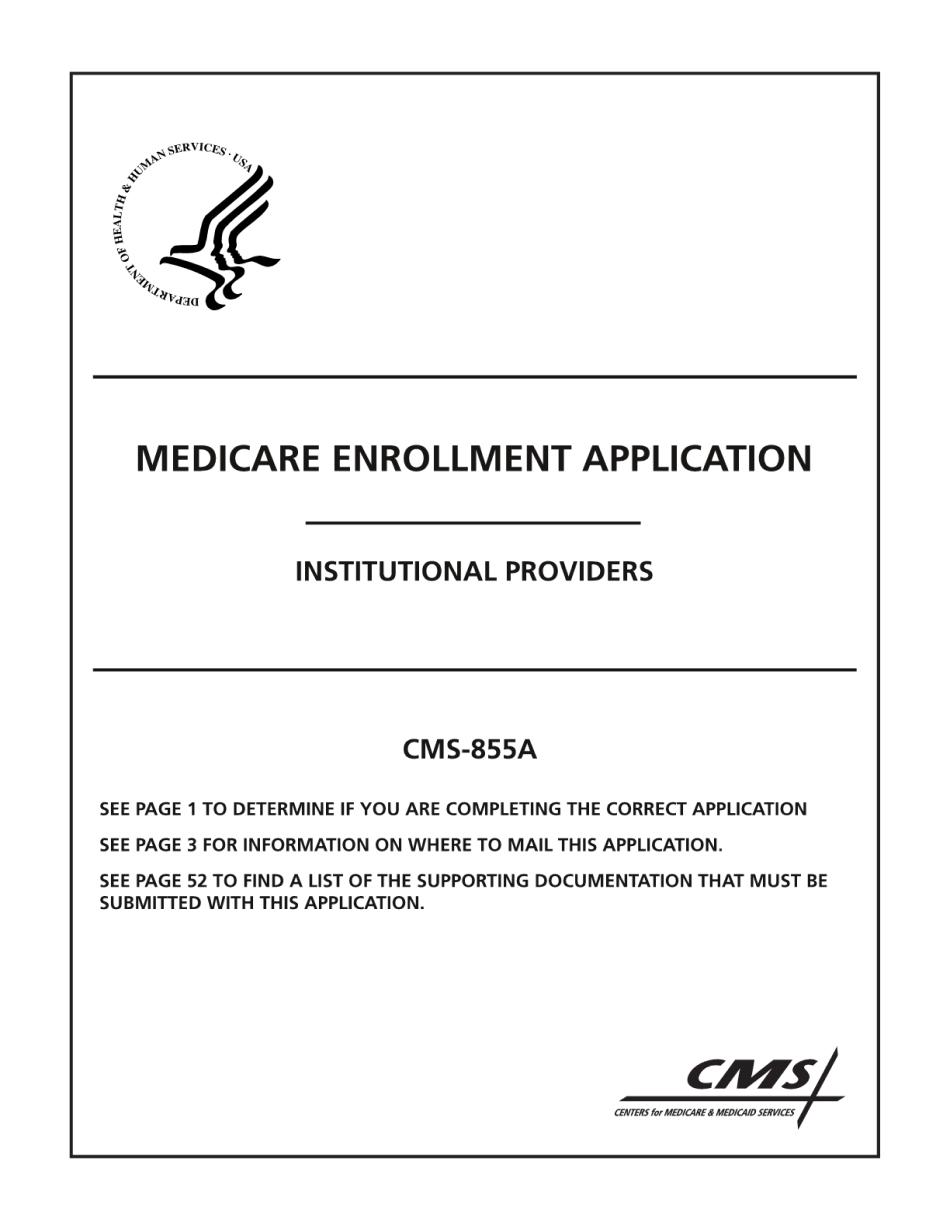 CMS-855A Form
