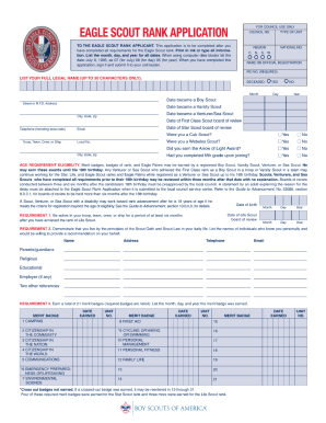 Eagle scout project workbook 2013 fillable