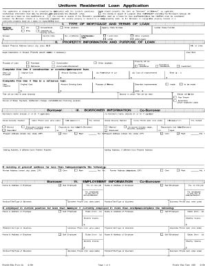 100060309  Uniform Residential Loan Application Form Gmi on