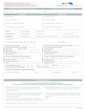 Request Mortgage Assistance Form - Fill Online, Printable ...