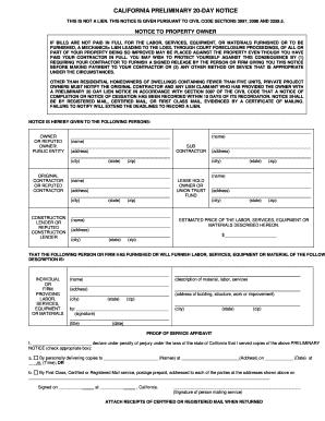 Bill Of Sale Form California Mechanics Lien Release Form Templates ...
