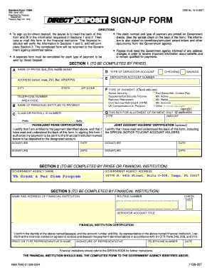 standard form 1199a example  7a Fillable Form - Fill Online, Printable, Fillable ...