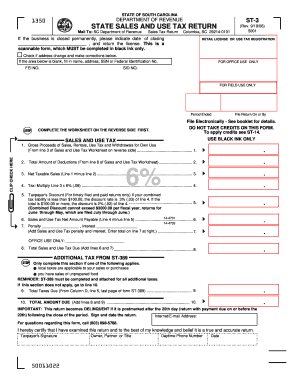 2013 Form SC DoR ST-3 Fill Online, Printable, Fillable, Blank ...