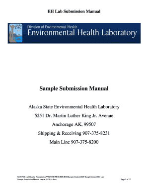 Lab Sample Submission Manual