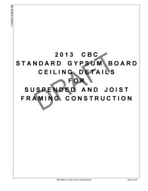 Fillable Online Oshpd Ca 2013 Cbc Standard Gypsum Ceiling