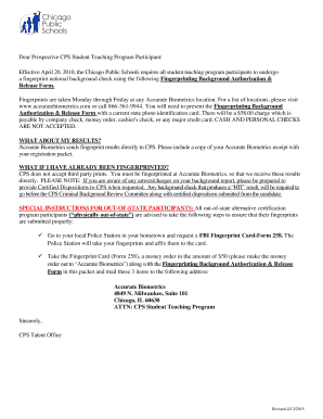 Background Investigation Authorization & Release Form - education depaul