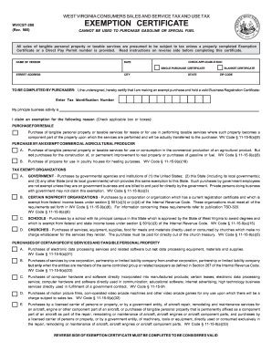 Wv Tax Exempt Form - Fill Online, Printable, Fillable, Blank ...