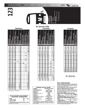 Nj Transit 123 - Fill Online, Printable, Fillable, Blank