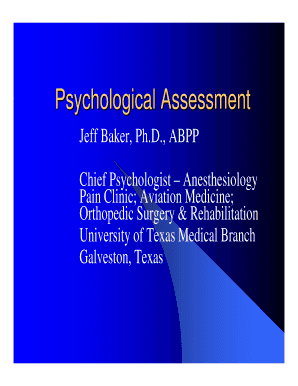 Psychological Assessment Psychological Assessment
