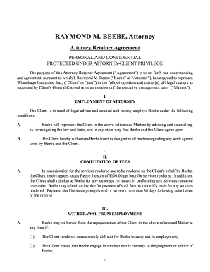 22 Printable Lawyer Retainer Agreement Sample Forms And