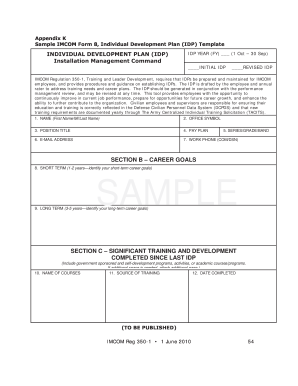 Army Idp Template - Fill Online, Printable, Fillable, Blank | PDFfiller