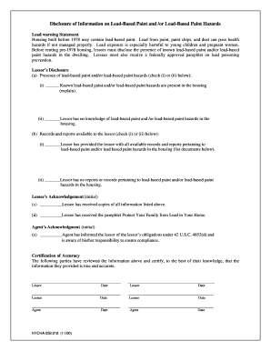 Disclosure Lead Paint - Fill Online, Printable, Fillable, Blank ...