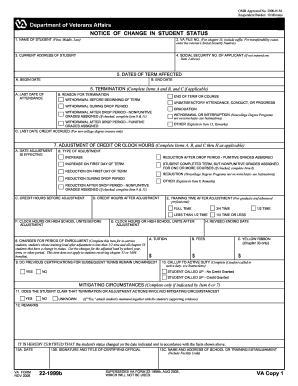 What Is VA Form 22-1999