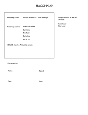 Fillable manual haccp Forms and Document Blanks to Submit