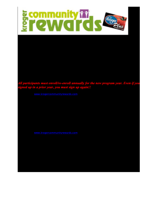 fillable online kroger community rewards flyer doc fax email print
