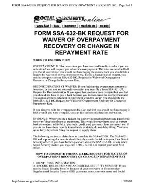 Form Ssa 632 - Fill Online, Printable, Fillable, Blank | PDFfiller