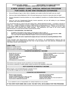 A Example Of New Jersey Medicaid Form - Fill Online, Printable ...