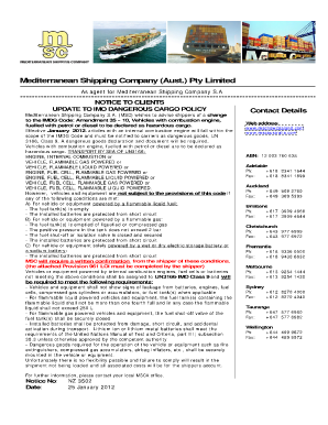 Imo Dangerous Goods Declaration Form Fillable New Zealand - Fill ...