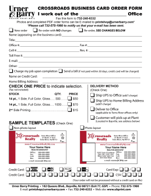 Job Application Template Pdf To Download Editable Fillable - Business card order form template