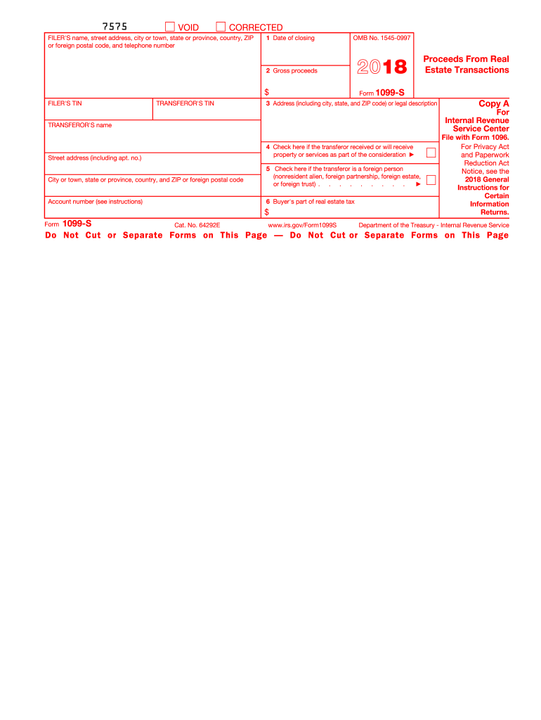 1099 form real estate  Fillable Online irs 14 Form 14-S. Proceeds From Real ...