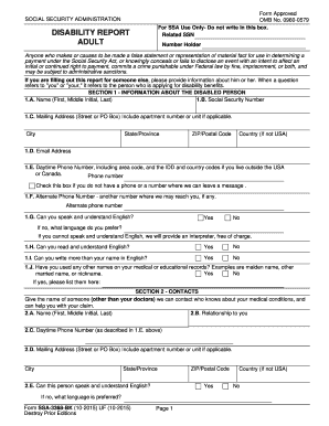 Ssa 3368 2012 Form