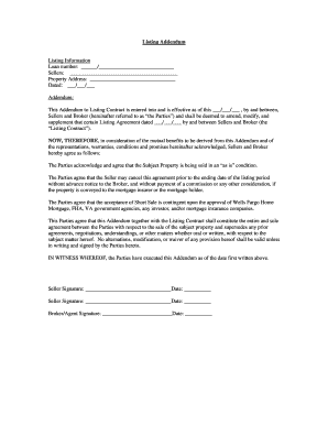Contract Addendum Template Forms Fillable Printable Samples For - Addendum template word